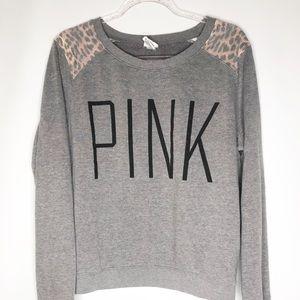 Victoria secret Pink leopard gray sweatshirt L